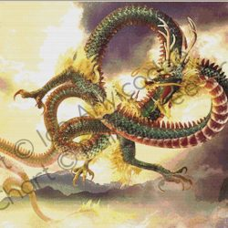 Chinese Dragon (with background)