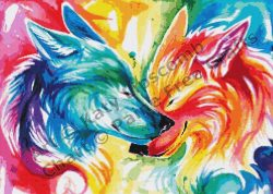 Nuzzling Wolves