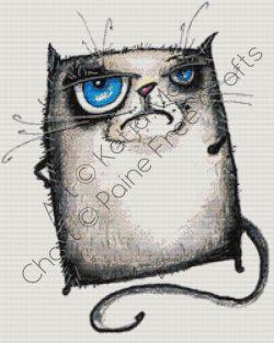 Grumpy Cat b&w