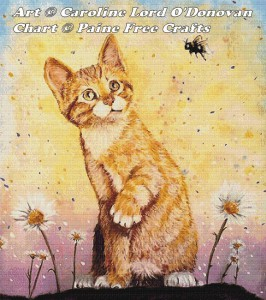 Kitten with Bee