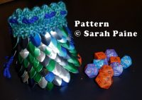 Dragonscale Dice Bag (knit pattern)