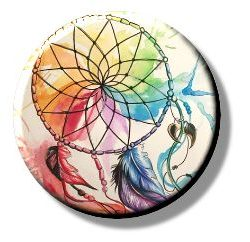 Colour Wheel Dreamcatcher (Needleminder)