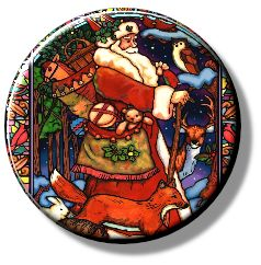Stained Glass Santa (Needleminder)