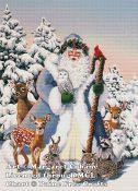 Santa's Woodland Friends (Blue Santa)