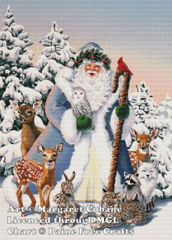 Santa's Woodland Friends (Blue Santa)
