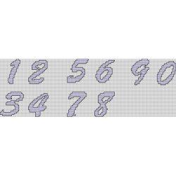 Font – Numbers – Brushscript